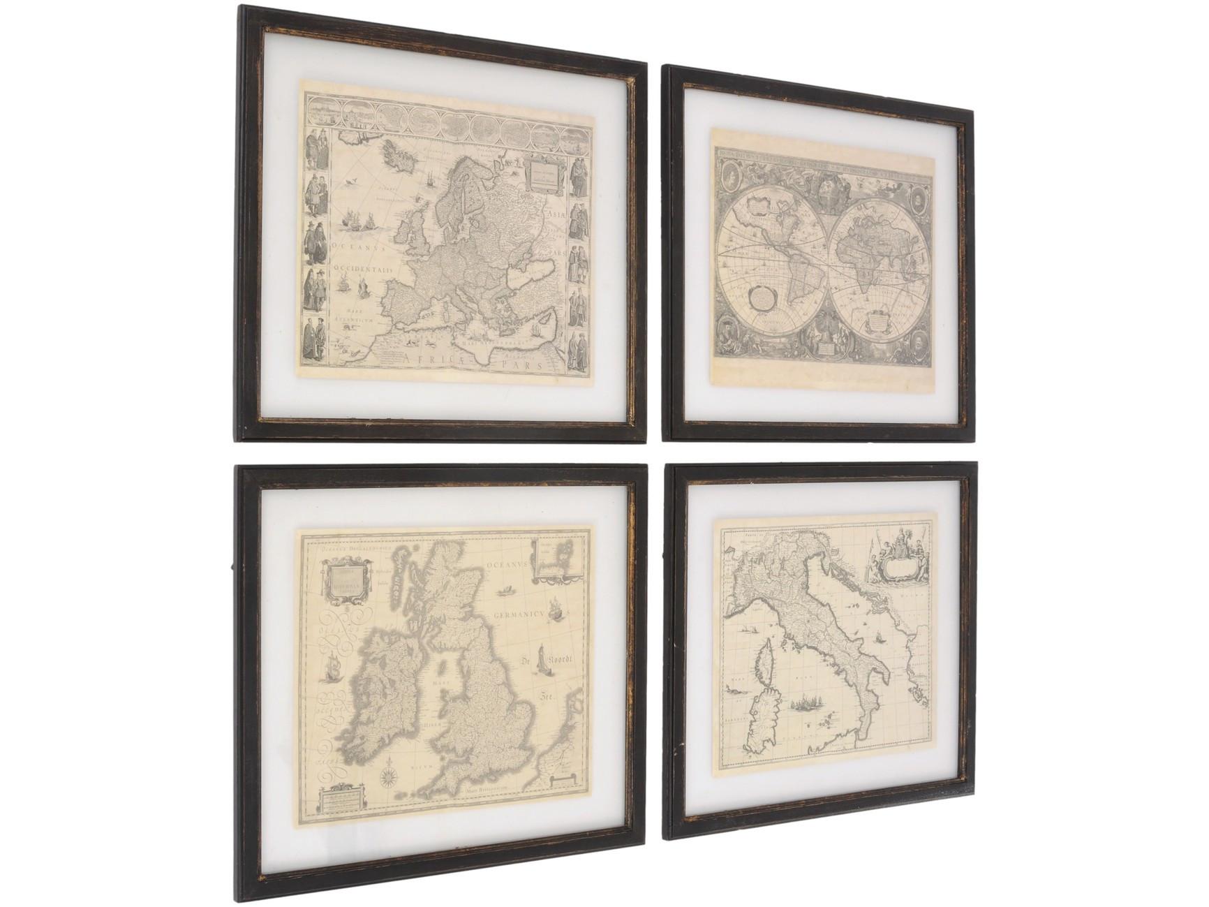 ea045ac8895 Club Set Of 4 Framed Map Prints - Daniel Laurence Home   Garden